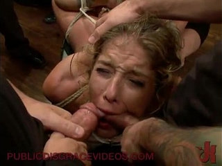 Bound in public groped and fucked | public