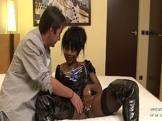 Big boobed french black hard analyzed with cum to mouth in a hotel room | blackcumfrenchhotelmouth