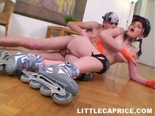Roller skater caprice roughly penetrated from behind on video | ass fucking