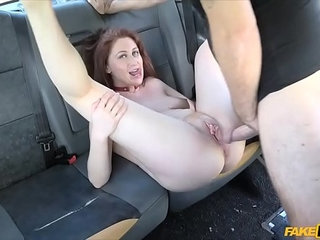 Busty redhead European chick gets fucked in a taxi | bustychickeuropeanredheadtaxi