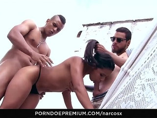 NARCOS X Wild Colombian fuck indoors and outdoor threeway at the lake house | colombianhousewifeoutdoorwild