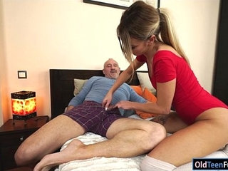 Russian Katrin Tequila banged in her pussy by horny grandpa | bangedgrandpahornypussyrussian