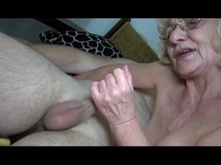 Grey old Granny likes young man | grannyolderyoung