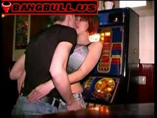 Cheap slut fucked in the middle of a bar | sluts
