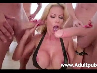 Alexis Fawx gets her throat Drilled by five big dicked studs | deepthroatdrillingstudents